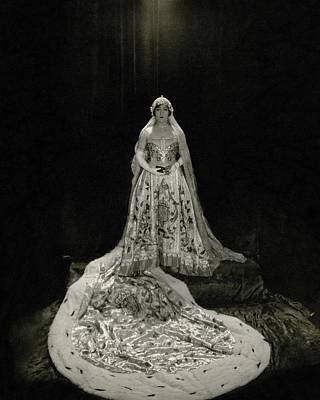 Photograph - Gloria Swanson Wearing A Costume by Edward Steichen