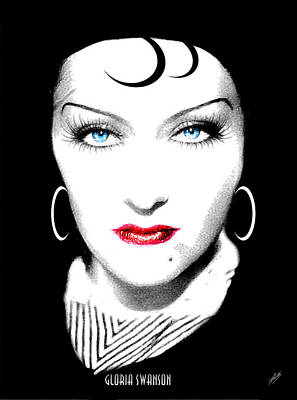 Gloria Drawing - Gloria Swanson - Esrellita Castro by Quim Abella