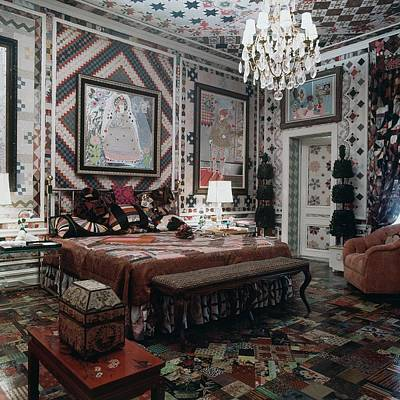 Photograph - Gloria Vanderbilt's Bedroom by Horst P. Horst