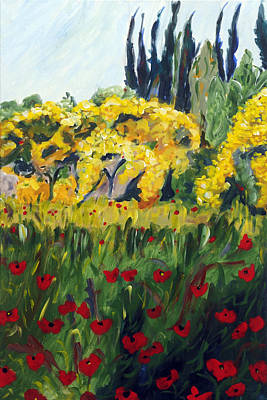 Tuscan Hills Painting - Glorioso Spazio by Seonaid  Ross