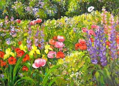Painting - Glorious Garden by Ingrid Dohm