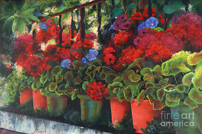Painting - Glorious Geraniums by Jeanette French