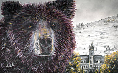 Grizzly Bear Painting - Glorious Griz by Teshia Art