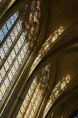 Photograph - Glorious Light - Sainte-chapelle De Vincennes - Chateau De Vincennes - Paris by Georgia Mizuleva