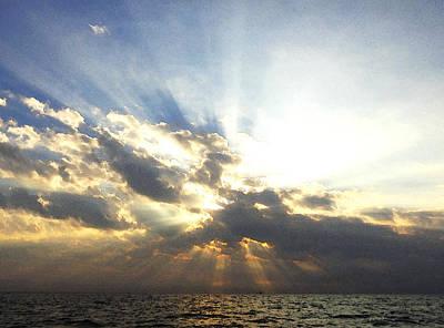 Glorious Rays Of Sunshine Art Print