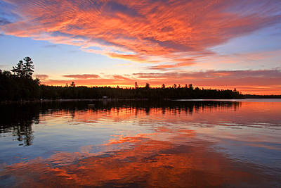 Glorious Sunrise At The Lake Art Print