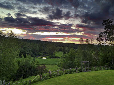 Photograph - Glorious Sunset In June by Kathryn Whitaker