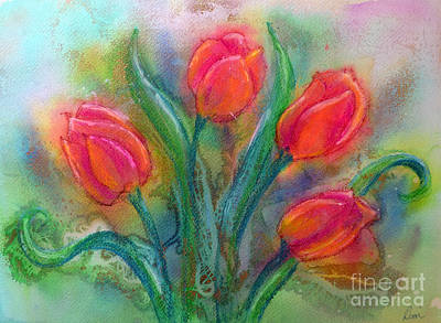 Painting - Glorious Tulips by Dion Dior
