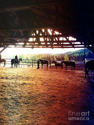 Art Print featuring the photograph Glory In Horses by J Ferwerda