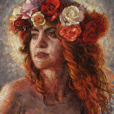 Mosaic Painting - Glory by Mia Tavonatti
