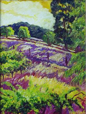 Napa Valley Vineyard Painting - Glory Of Chardonnay by Lisa V Maus