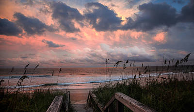 Beach Scenes Photograph - Glory Of Dawn by Karen Wiles