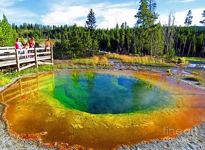 Glory Pool Yellowstone National Park Art Print