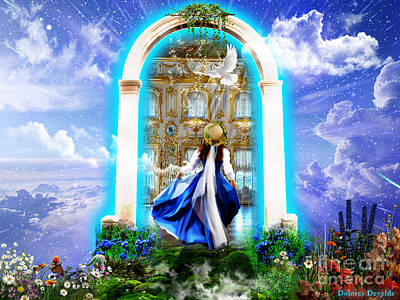 God Mixed Media - Glory Portal  by Dolores Develde