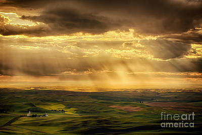 Photograph - Glory Rays On The Palouse by Priscilla Burgers