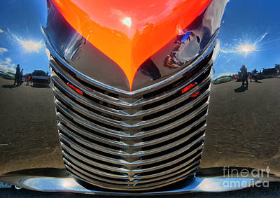 Photograph - Glossy Grill Reflecrtions by Chris Anderson