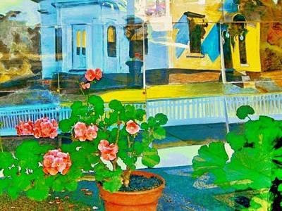 Painting - Gloucester Art Gallery Window - Horizontal by Lyn Voytershark
