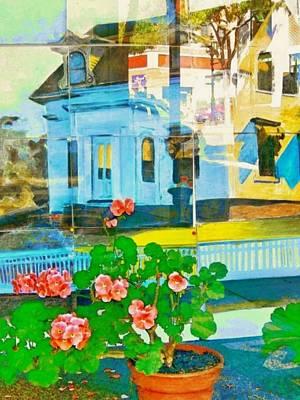Digital Art - Gloucester Art Gallery Window - Vertical by Lyn Voytershark