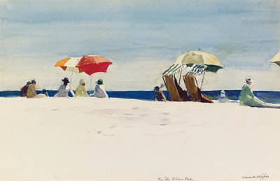 Reproductions Painting - Gloucester Beach by Edward Hopper