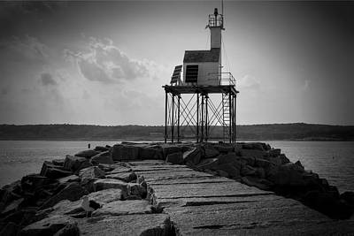 Gloucester Photograph - Gloucester Breakwater Light by Joan Carroll