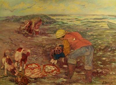 Gloucester Clam Diggers Art Print by Beth Arroyo