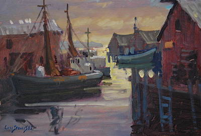 Painting - Gloucester Fishing Boats by Len Stomski
