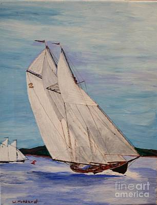Bluenose Painting - Gloucester Fishing Sch. Columbia by Bill Hubbard