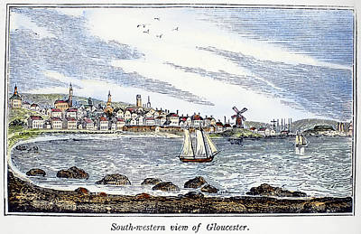 Scenic Drive Painting - Gloucester Harbor, 1844 by Granger