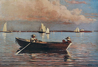Boston Painting - Gloucester Harbour by Winslow Homer