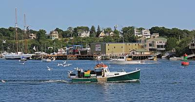 Photograph - Gloucester Ma Harbor 2 by Michael Saunders