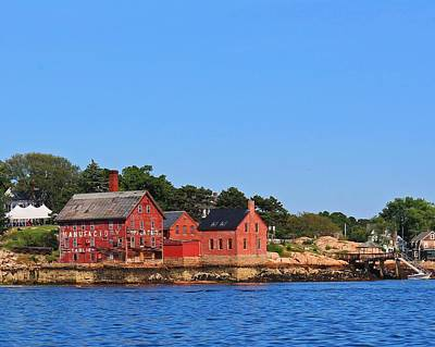 Photograph - Gloucester Ma Harbor by Michael Saunders