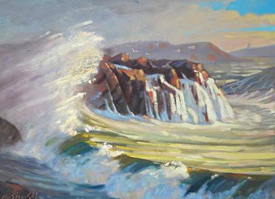 Painting - Gloucester Surf 2 by Len Stomski