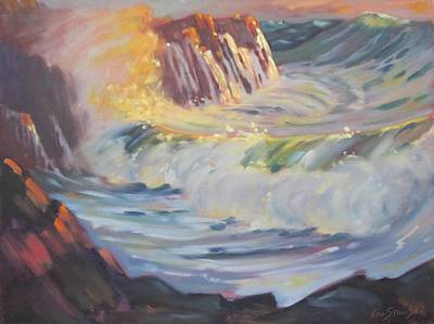 Massachusetts Coast Painting - Gloucester Surf by Len Stomski