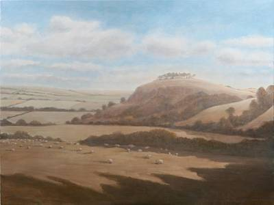 U.k Photograph - Gloucestershire Landscape, 2012 Acrylic On Canvas by Lincoln Seligman