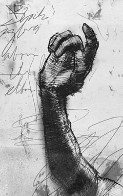 Opera Gloves Drawing - Glove Study by H James Hoff