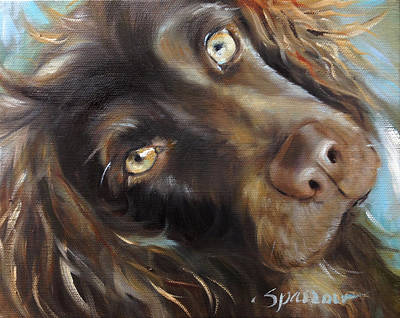 Puppy Dog Eyes Painting - Glow by Mary Sparrow