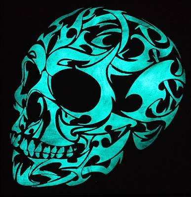 Glow In The Dark 3d Gothic Skull Original by Twilight Vision