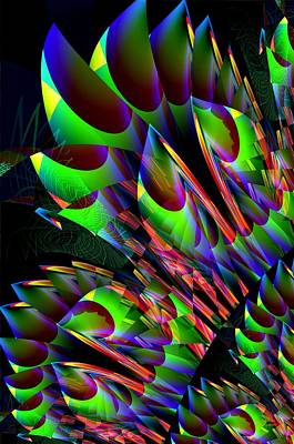 Digital Art - Glow In The Dark Abstract by Maria Urso
