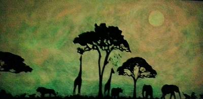 Glow In The Dark Painting - Glow In The Dark Safari by Twilight Vision