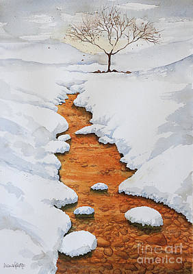 Painting - Glow In The Snow by Marisa Gabetta