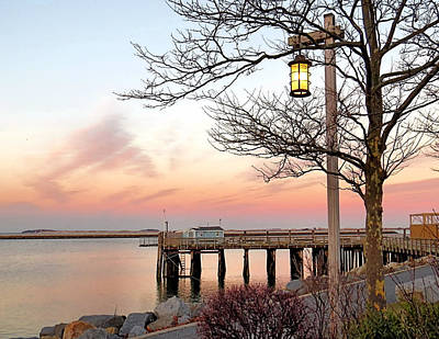 Photograph - Glow Of A Lantern At Sunset by Janice Drew