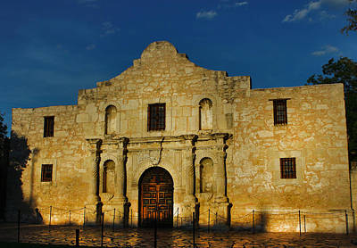 Photograph - Glow Of The Alamo by Greg Sharpe