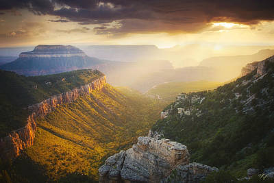Locust Sunset Photograph - Glow Of The Gods by Peter Coskun