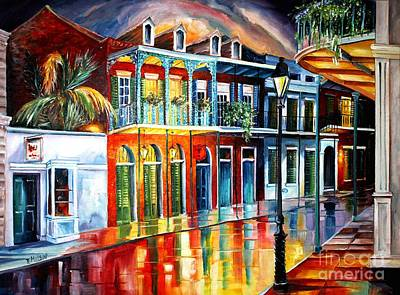 Night Lamp Painting - Glow Of The Vieux Carre by Diane Millsap