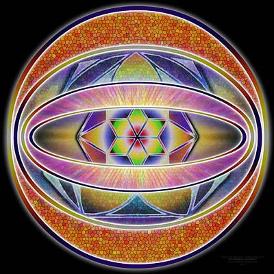 Drawing - Glow Sphere Beta by Derek Gedney
