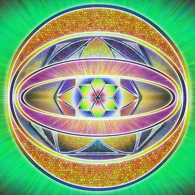 Drawing - Glow Sphere Delta by Derek Gedney