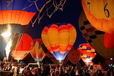 Photograph - Glowdeo At Balloon Fiesta by Daniel Woodrum