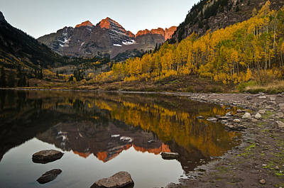 Water Photograph - Glowing Bells Of Autumn by Mike Berenson