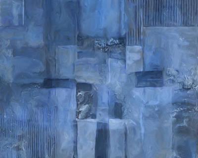 Glowing Blues Art Print