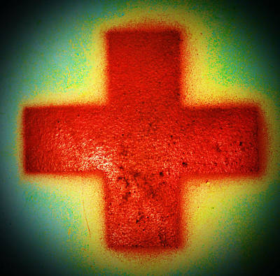 Photograph - Glowing Cross by Holly Blunkall